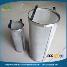 High quality 300 micron stainless steel mesh basket strainer beer homebrew hop filter