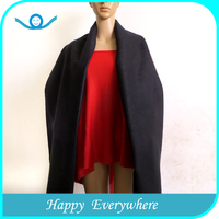 Popular elegant pure colour wool shawl