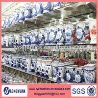 chinese antique blue and white porcelain vases