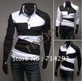 2015 fashion new men's casual stylish mens shirts slim fit 3627