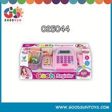 hot and newest kids plastic cashier toy plasticl shan tou toy cashier with light&music