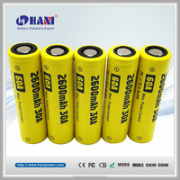18650 3.7V 2600mAh 30A Max 60A Pens Rechargeable Battery E-Cigarette Large Battery