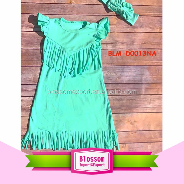 Fashion Children's Clothing Baby Girls Tassel Fringed Dress Cotton Sleeveless Tank Kids Fringed Dresses For Girls