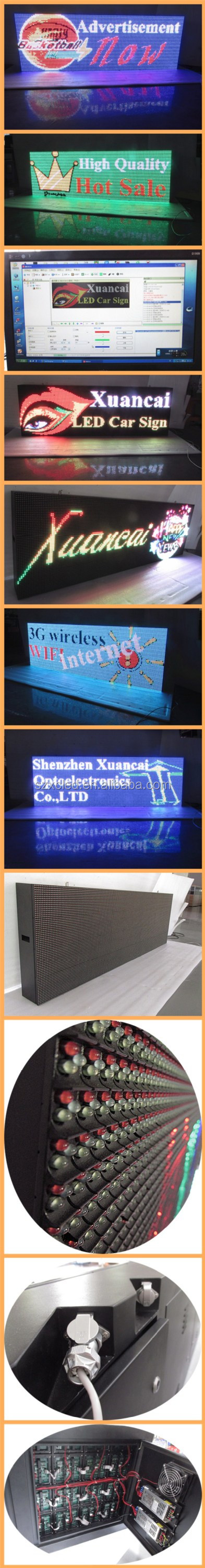 Outdoor Full color P10-64x192RGB 1 Sides RS232 Serial Communication LED sign board display screenn panel
