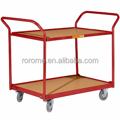Double platforms and hand racks push cart(RR-882011)