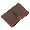 Elastic Band Crazy Horse Leather Journal Writing Notebook Cheap Price