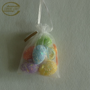color assorted spring glitter foam egg hanging