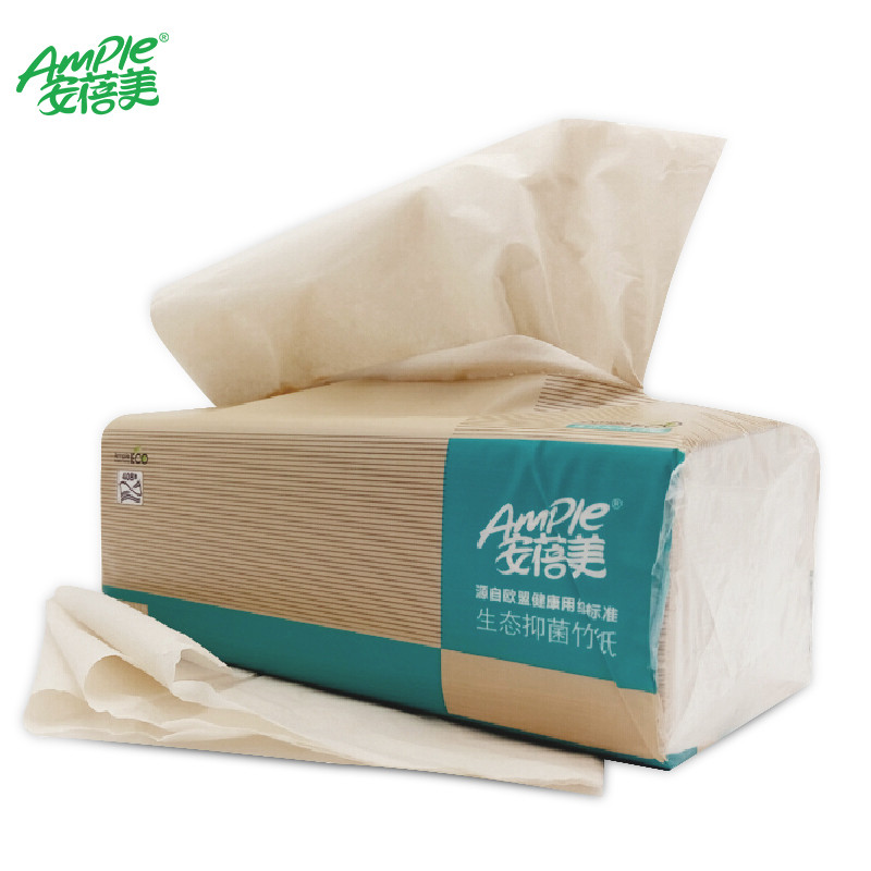 Environmental friendly facial tissues