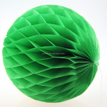 Chinese paper tissue apple/christmas/mint/fruit green honeycombs various sizes wedding/party/birthday/graudation decorations