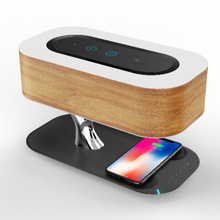 Smart Music Night Light Wooden Tree shape Bedside Lamp shenzhen wireless charger