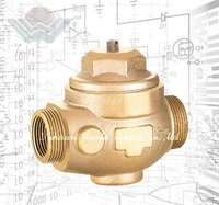Bronze adjustable water pressure relief valve