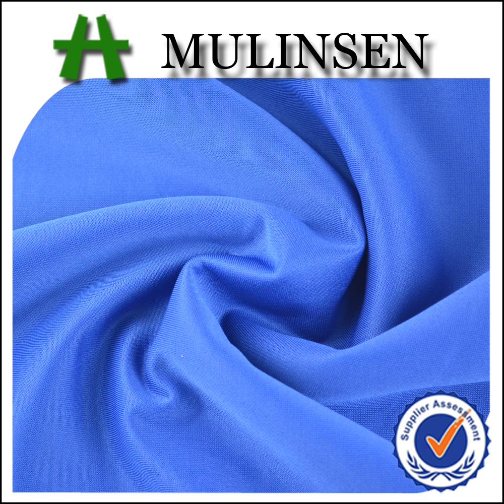 Mulinsen Textile 2016 Solid Knitting Scuba Dye Polyester Spandex Fabric for Garment