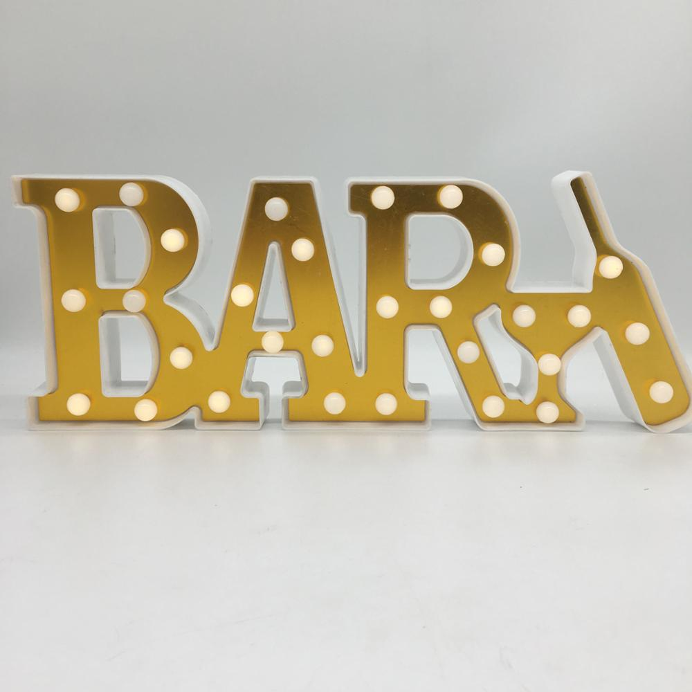 Illuminated Marquee Bar <strong>Sign</strong>