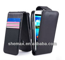 Leather Flip case cover for Samsung Galaxy S4 Mini i9190 mobile phone accessory