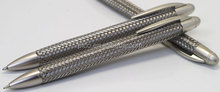 high quality metal braided steel wire barrel pen for promotion