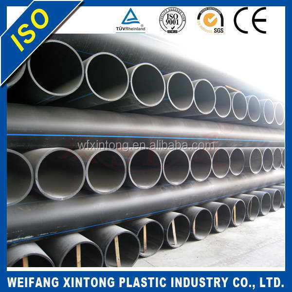 Direct Factory Price high quality pe material 110mm hdpe water supply pipe