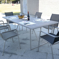 Modern table and chair set outdoor garden design furniture
