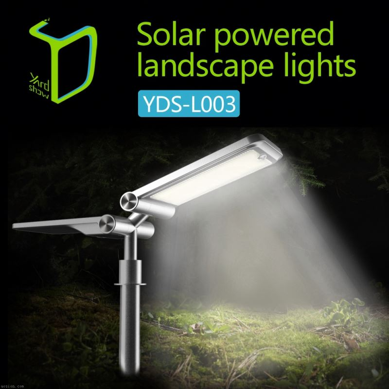 Yardshow Super Power Waterproof motion activated solar power led light garden spot lights road lamp