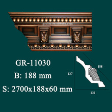 wholesale decorative items polyurethane cornice moulding for house interior