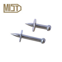 NK powder actuated drive steel nail for rock with metal washer for nail gun