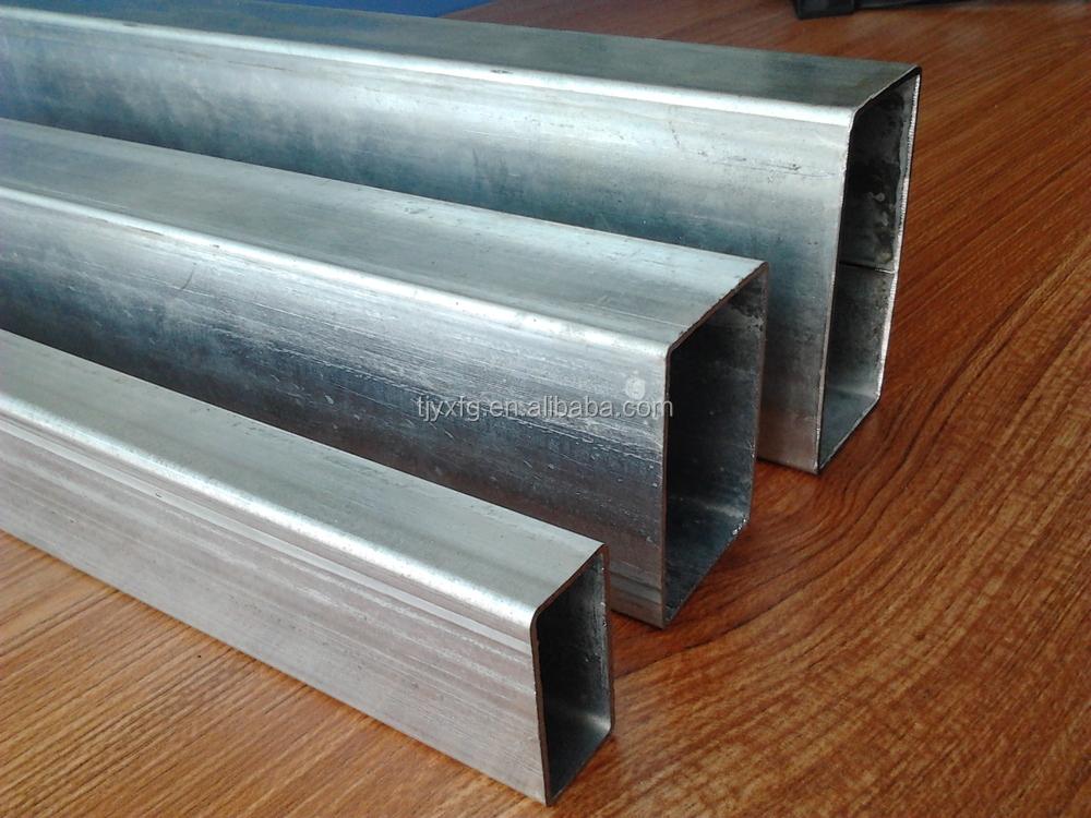 Galvanized square tubing metal fence