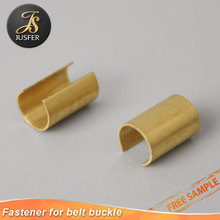 Custom brass metal clip fastener of belt accessories