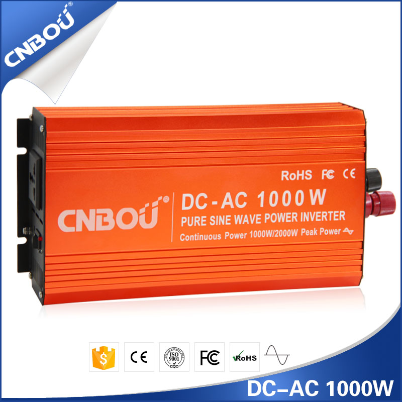 1kw 1000w 12v dc to 110v ac Pure Sine Wave Inverter inteligent home power inverter