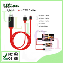 8pin To HD*MI cable 2M Connect Digital AV TV HDTV Adapter Cable For iPad for iPhone 5S 6 6P 6S With USB Charger Cable