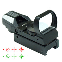 Guide 22mm Tactical 4 Type Reticle Red and Green Dot Reflex Sight Scope Hunting Red Dot Sight Used for Air Rifles Scope