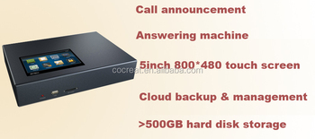 Website Touch screen stand-alone telephone recorder with 500GB harddisk, cloud backup & management