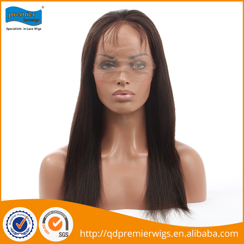 Hot selling humen brazilian bulk hair wig extensions full lace customized cap size