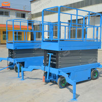 trailing hydraulic man lifts for warehouse