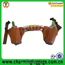 wholesale liquor bottle holster carrier with cup/wine bottle holder for party