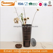 Hot Sale Indoor Vintage Metal Flower Decoration Vase