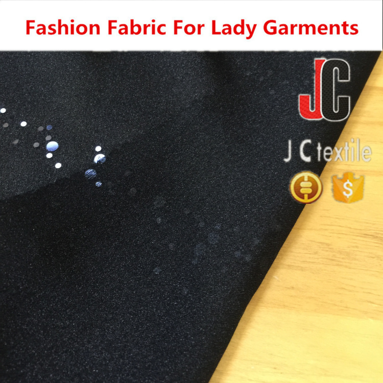 JC S1276 shaoxing textile in stock satin yoryu with trans 100% silk satin fabric black
