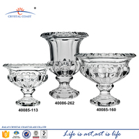 Large modern art machine-made high quality clear lead crystal glass vase for home decor