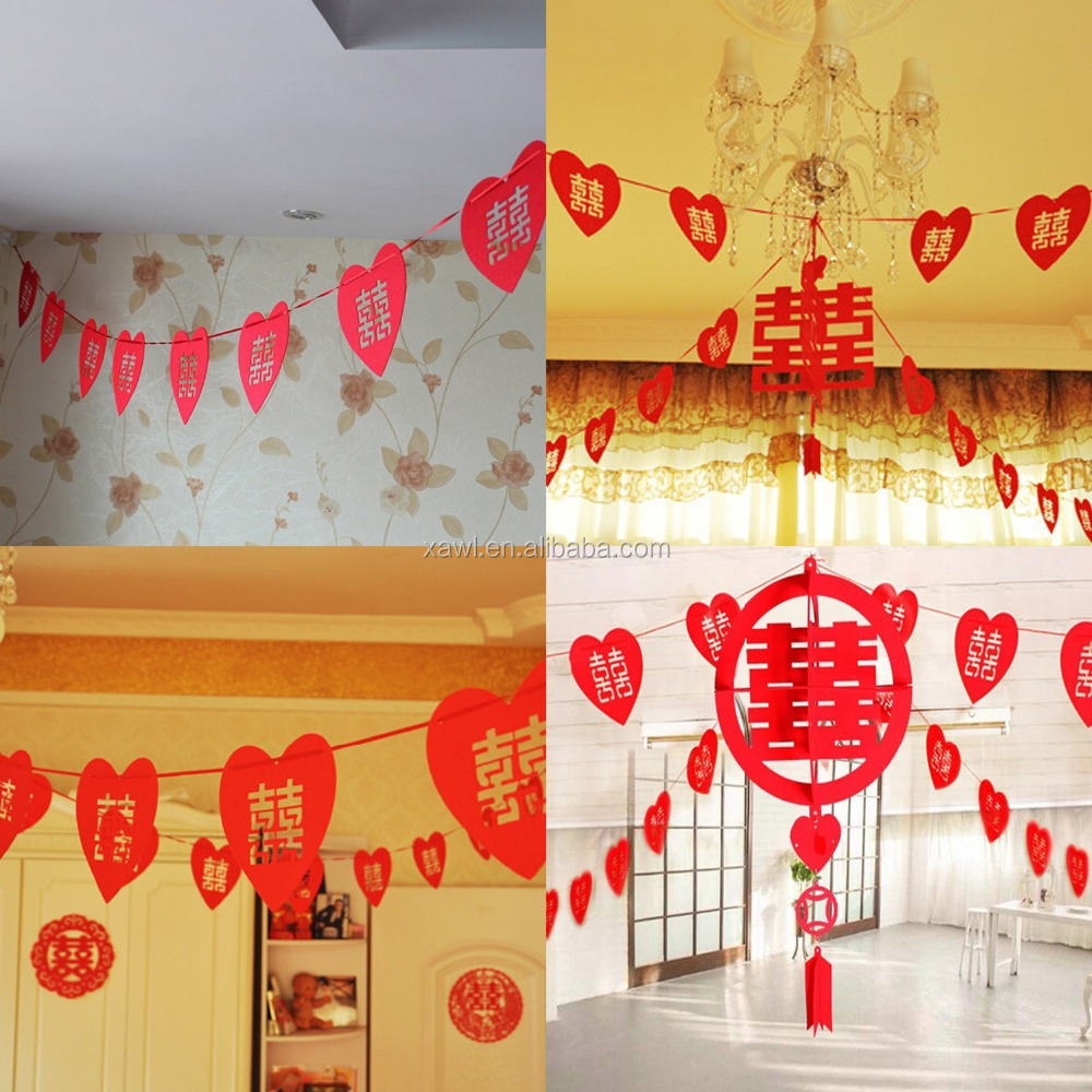 2015 cheap wedding room wall garland decoration for sale. Black Bedroom Furniture Sets. Home Design Ideas