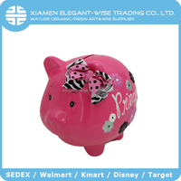 New innovative product ceramic craft animal piggy bank for reward