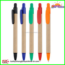 Fashion Customized Eco Recycle Kraft Paper Ballpoint Pen Recycled Cardboard Pen