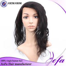Cheap Indian high quality 7a loose wave 360 frontal wig and weave