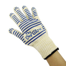 Silicone Grip Ove Glove Heavy Duty Oven Glove with Fingers