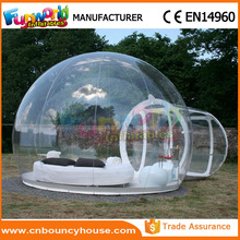 2017 Inflatable transparent dome clear inflatable bubble tent