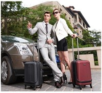 New unique 4 wheels 19'' carry on PC hardside luggage