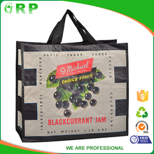 Promotion reusable pp laminated advertising eco friendly shopping bag