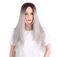 New Arrival ombre grey color brazilian hair wig