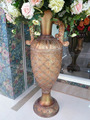 Tall decorative aulic style floor flower vases