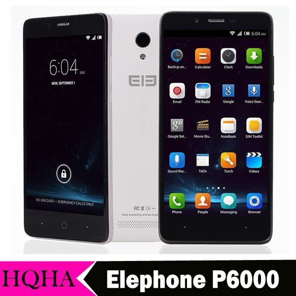"Original Elephone P6000 4G FDD LTE Moblie Phone 5.0"" 1280x720 MTK6732 64Bit Quad Core 2GB RAM 16GB ROM 13.0MP Camera OTG 3G"