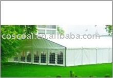 high quality party tent with double PVC coated polyster textile acc to DIN 4102 B1 M2 waterproof