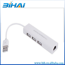 high quality multi function wifi usb lan card with 3 ports usb hub