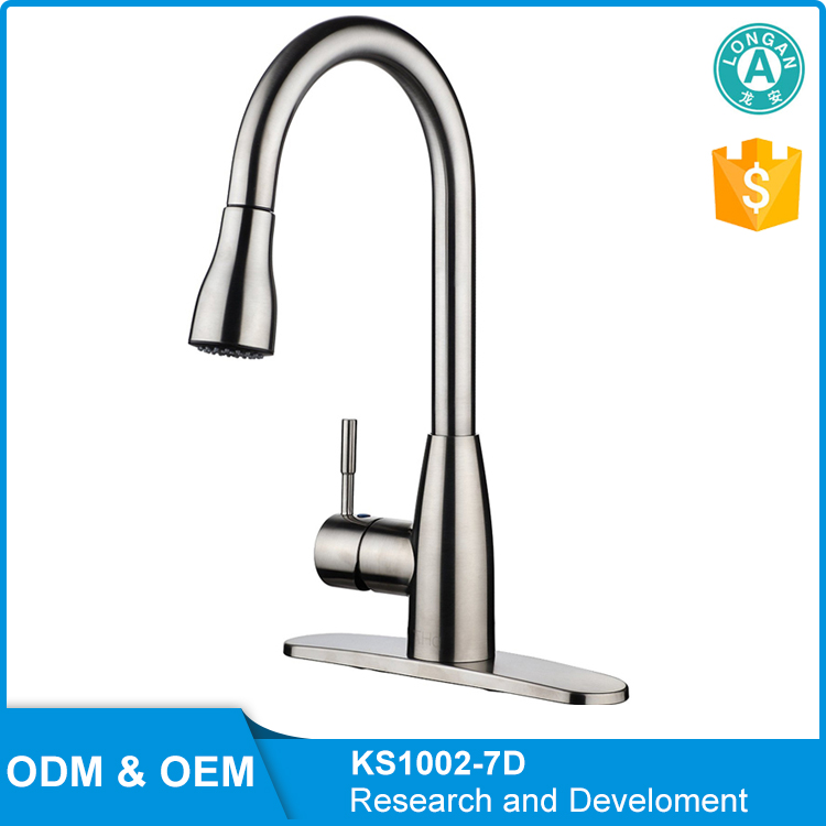 Durable Single Lever Pull Out Sprayer Kitchen Sink Facuet